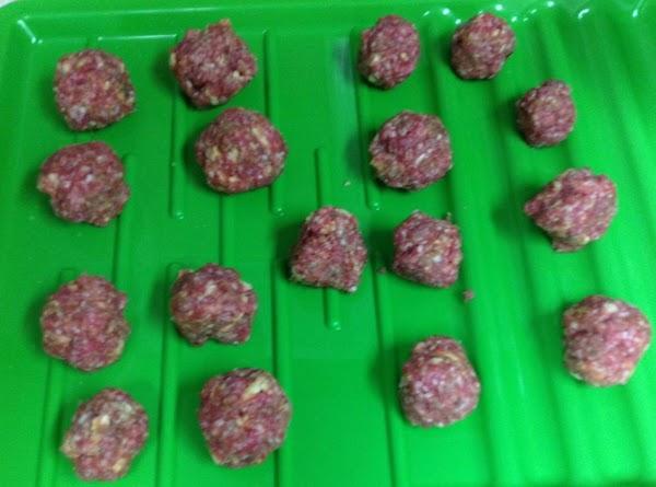 Ground Lamb meatballs