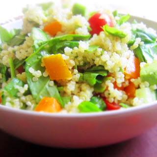 Garden Veggie Quinoa Salad with Lemon Vinaigrette