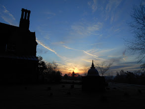 Photo: Frosty morning in January with the stupa