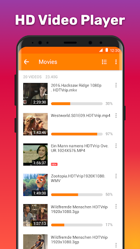 HD Video Player 1.1.1.4 screenshots 1