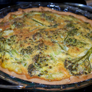 Broccoli and Rainbow Chard Quiche