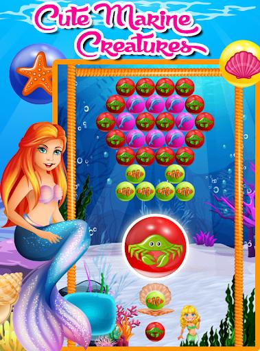 美人鱼泡泡爆破游戏