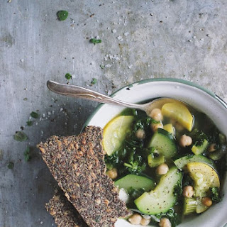 Summer Squash Soup with Chickpeas {print me!}.