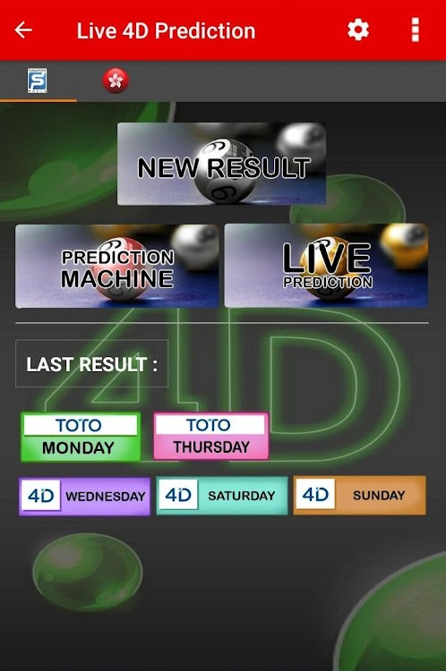 Live 4D Prediction ! ( SG & HK ) – (Android Apps) — AppAgg