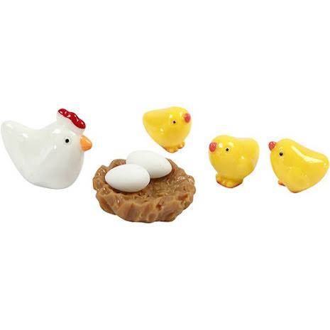 Minifigurer Höna och kycklingar