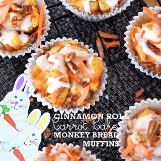 Cinnamon Roll Carrot Cake Monkey Bread Muffins Recipe