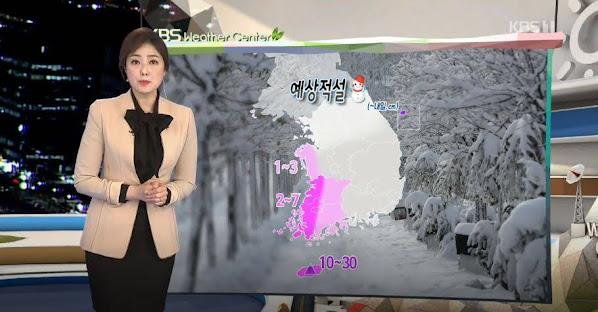 หิมะตกในเกาหลี พยากรณ์อากาศเกาหลี เดือนธันวาคม