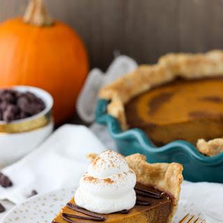 Mexican Chocolate Spiced Pumpkin Pie