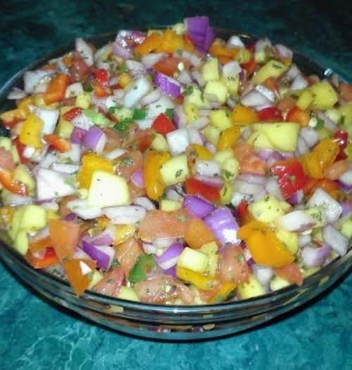 "Sweet 'n Spicy Mango Salsa ""Great fresh flavors combined into one salsa!""..."