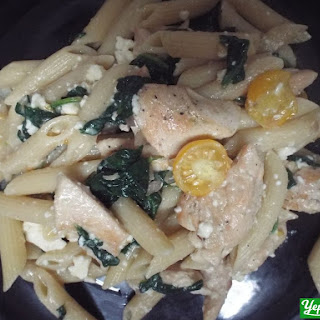 Chicken and Spinach Penne Pasta with Feta Cheese new