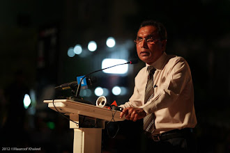 Photo: Former Home Minister, Speaking at MDP rally Artificial Beach, Photo: Maapu