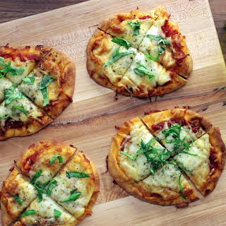 Cheese Naan Pizzas.