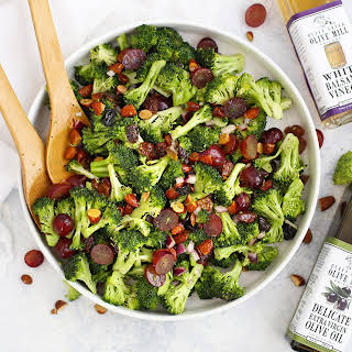 Vegan Broccoli Salad with Poppy Seed Dressing.