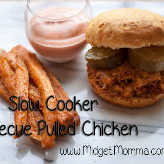 Slow Cooker Barbecue Pulled Chicken.