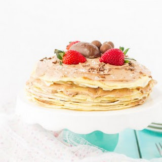 Crepe Cake With Chocolate Whipped Cream