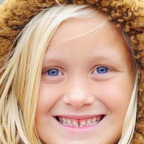 All bundled up for the winter by Martin Wheeler - Babies & Children Child Portraits ( child girl coat jacket bundled smile snow cold warm happy,  )