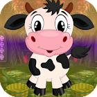 Best Escape Games 68 Puckish Cow Rescue Game icon