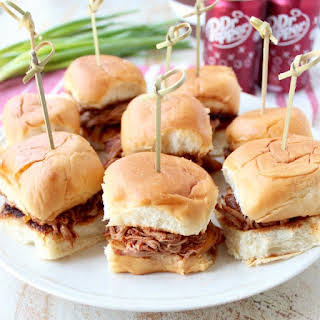 Dr Pepper Pulled Pork Sliders.