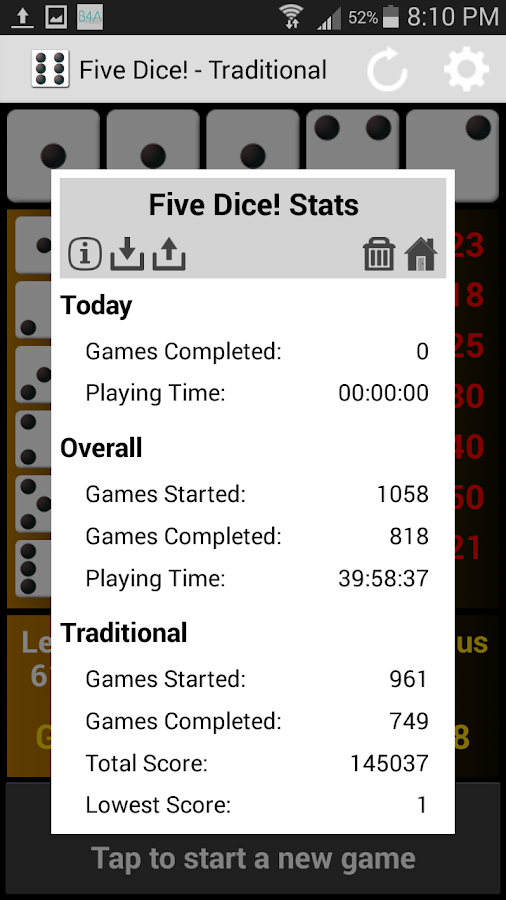 Five Dice! Free- screenshot
