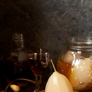 Amaretto Pears - Preserved Fruit.