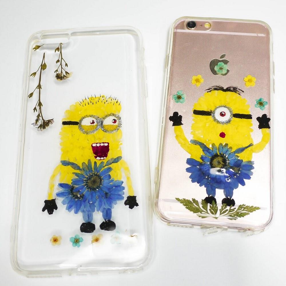 [訂製/custom-made] Minions Pressed Flower Phone Case