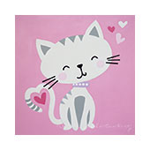 canvas painting design - Kitty Love