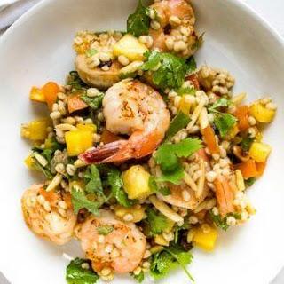 Pineapple Shrimp Barley Salad.