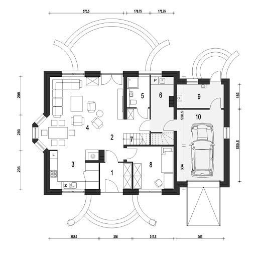 Dom Dla Ciebie 1 z garażem 1-st. A - Rzut parteru