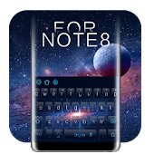 3d surface Galaxy S8 keyboard theme