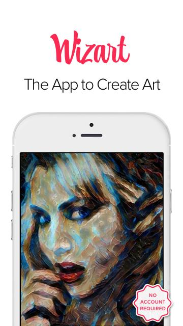 Wizart App- screenshot