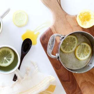 Home Remedy With Ginger-Lemon Tea.