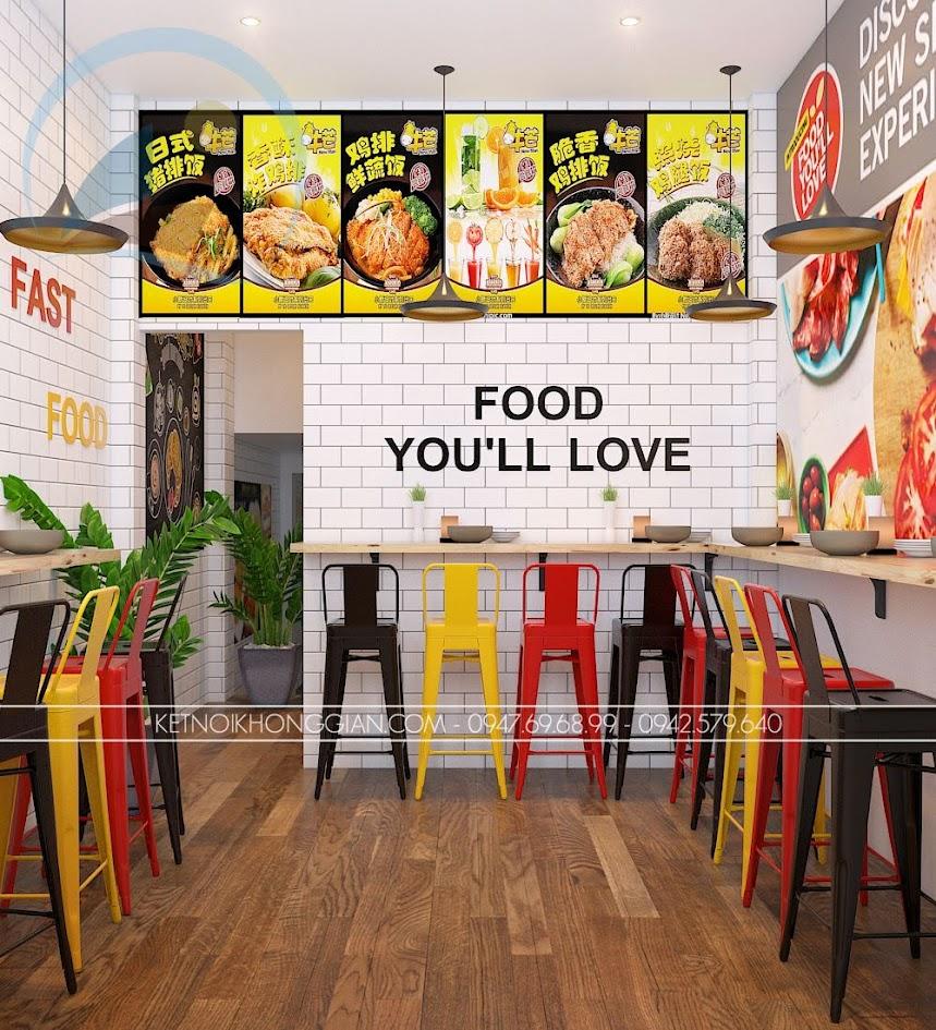 thiết kế cửa hàng gà rán đài loan 10
