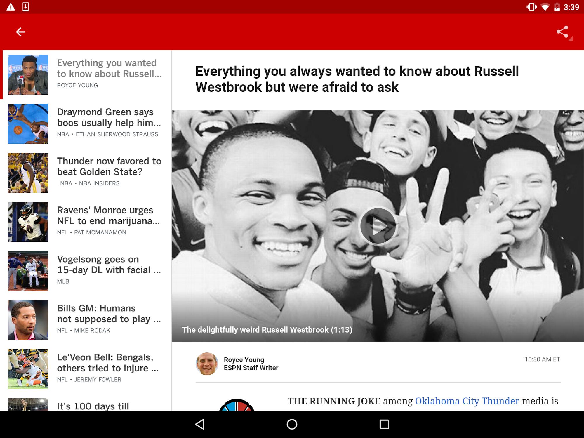 ESPN screenshot #8