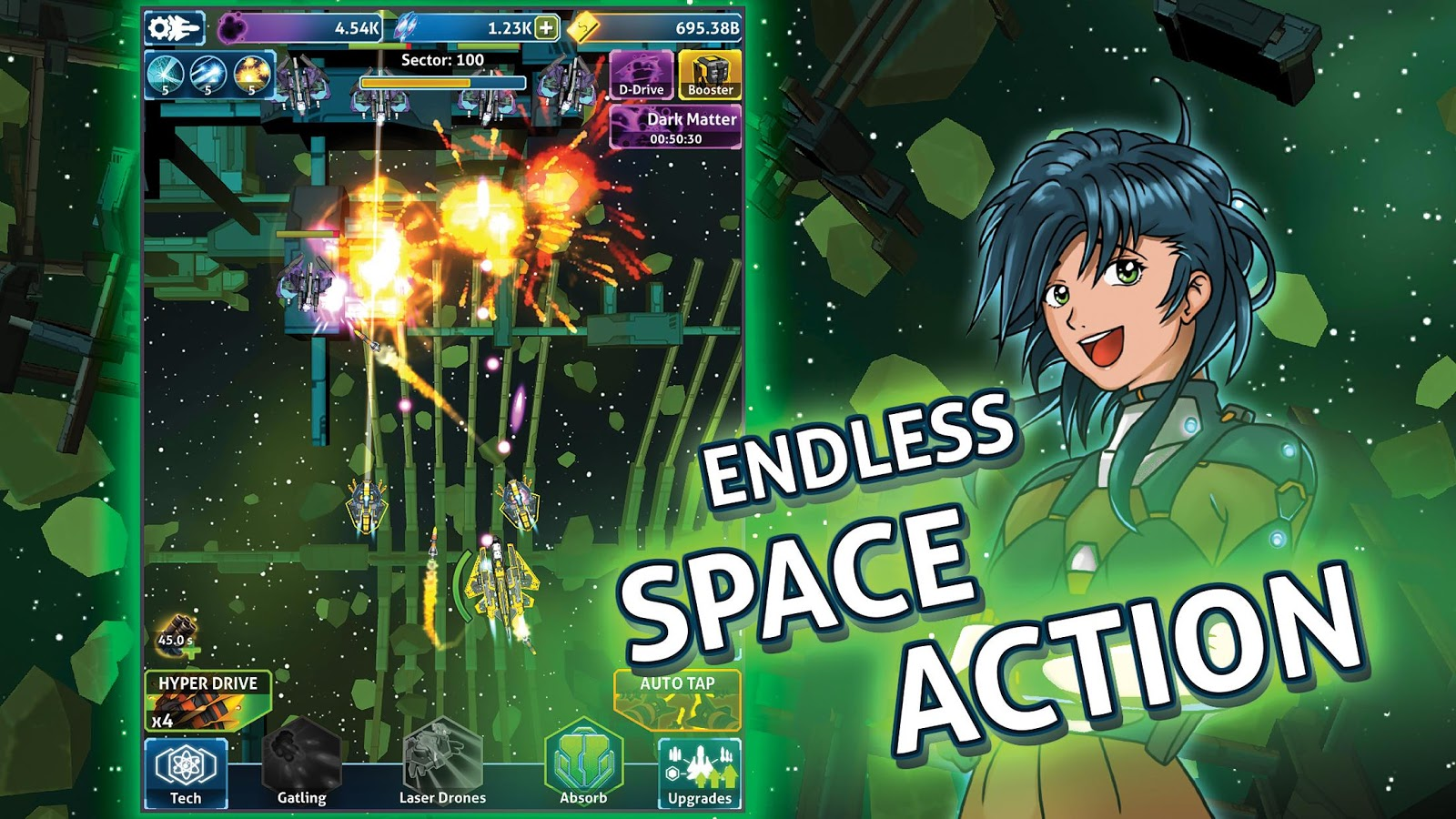Idle Space - Endless Action Clicker- screenshot