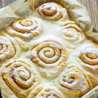 Quick 45 Minute Cinnamon Rolls.