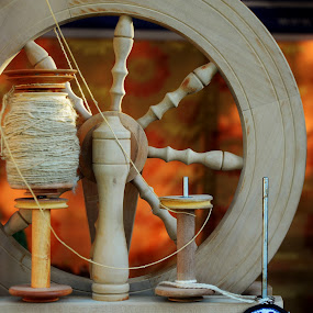 Spin Wheel by Arsalan Sandhila - Artistic Objects Industrial Objects ( traditional, old, wheel, spin, cotton )