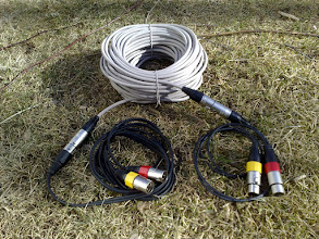 Photo: 30 meters ultra light stereo cable reel.  Made out of screened CAT6.  Wight only 960gr
