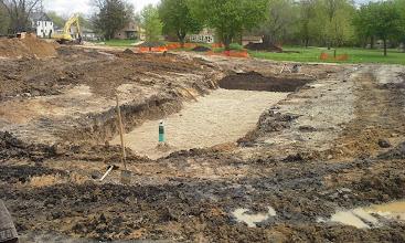 Photo: Bio Retention Pond Construction 05-14-2014