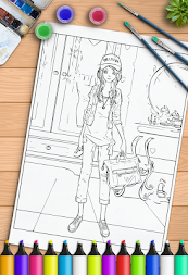 Young Ladies Painting Pages APK screenshot thumbnail 11