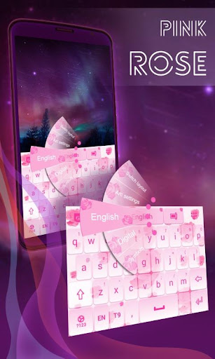 粉红玫瑰键盘