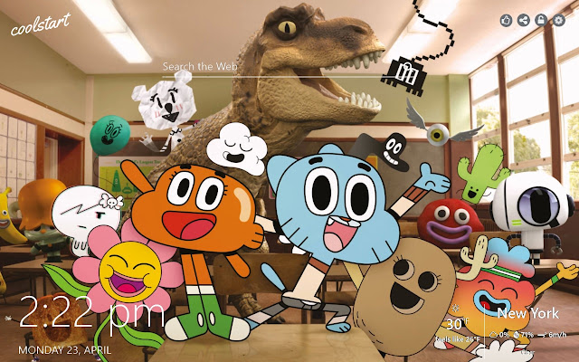 Gumball HD Wallpapers Cartoons New Tab Theme