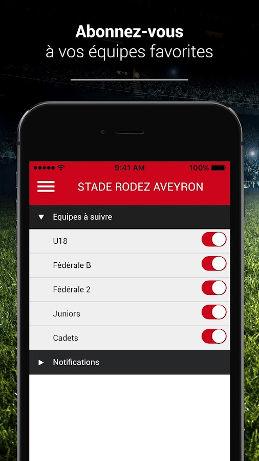 stade rodez aveyron android apps on google play. Black Bedroom Furniture Sets. Home Design Ideas