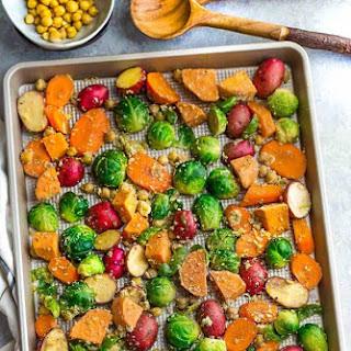 One Pan Roasted Harvest Vegetables Recipe