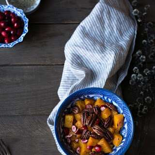 Roasted Butternut Squash with Maple Pecans and Cranberries