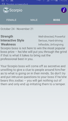 android Zodiac and Sun Signs Secrets Screenshot 4