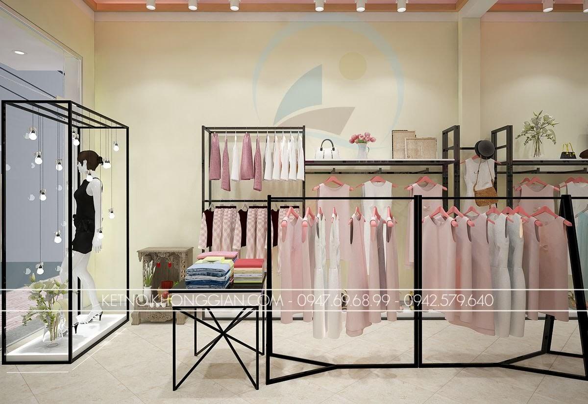 thiết kế shop thời trang công sở ấn tượng