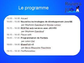 Photo: Le programme