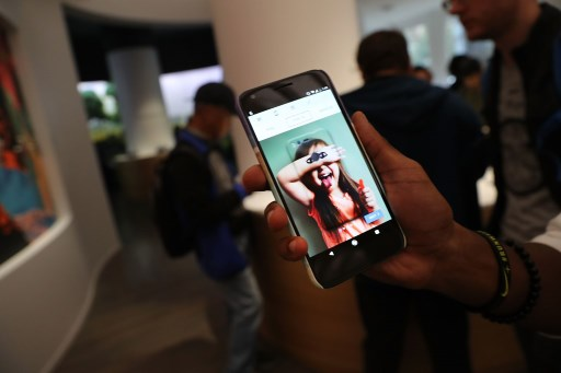 A Google Pixel XL phone is displayed at the new Google pop-up shop in the SoHo neighbourhood. File photo.