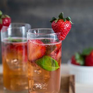 Strawberry Basil Rum Smash.