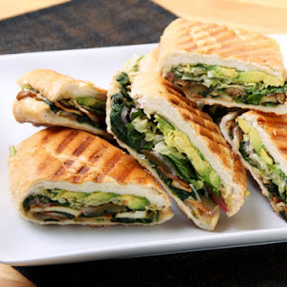 Mexican Mushroom and Spinach Sandwich (Vegan Torta).